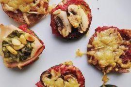Gezonde pizzabites, glutenvrij en snel klaar - Beter door Eten