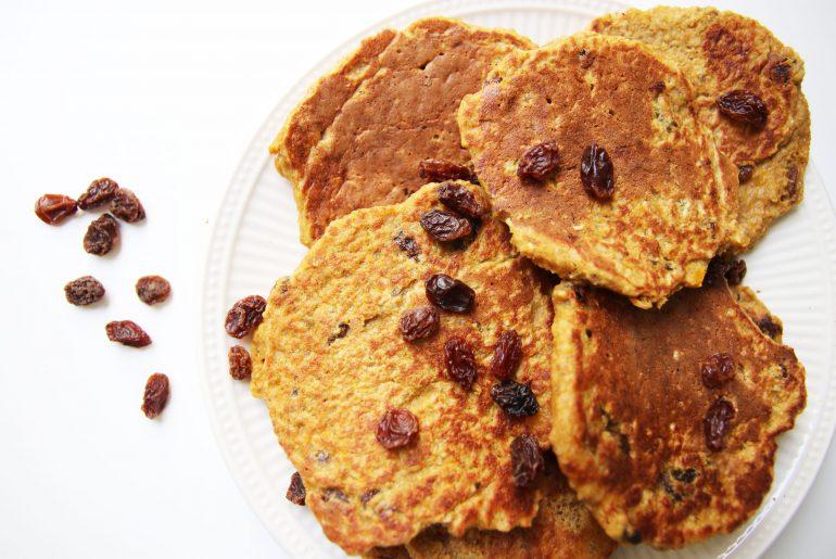 Pompoenpannenkoeken met rozijnen -Beter door Eten