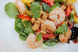 Thaise salade met gamba's - Beter door Eten