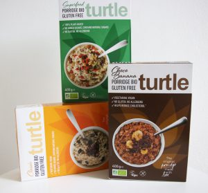 Drie soorten glutenvrije havermout van Turtle