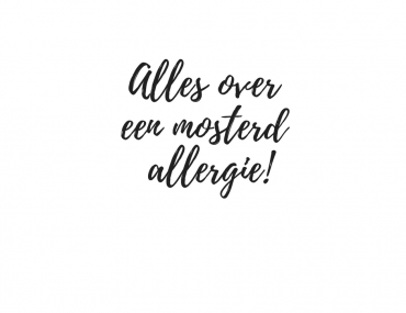 mosterd allergie - Beter door Eten