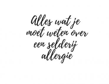 selderij allergie - Beter door Eten