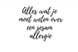 sesam allergie - Beter door Eten
