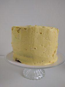 Stap 5: het afsmeren van de taart